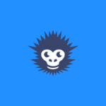monkey ventures blue monkey head logo design