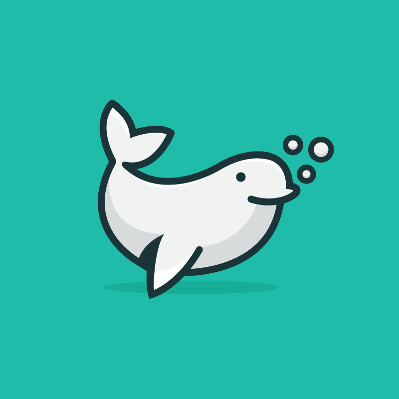 White whale logo design