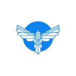 Bird wings blue logo design