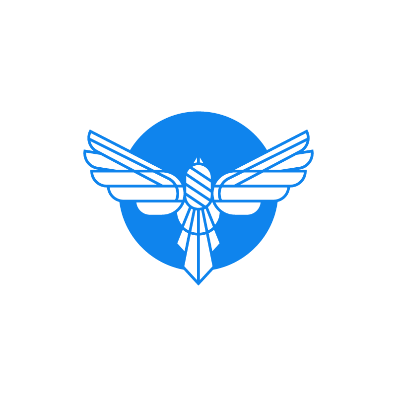 Bird wings blue logo design