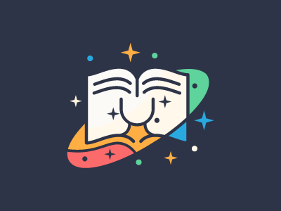 Book in space logo design