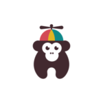 Baby Monkey with a hat on logo design