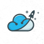 Rocket cloud logo design