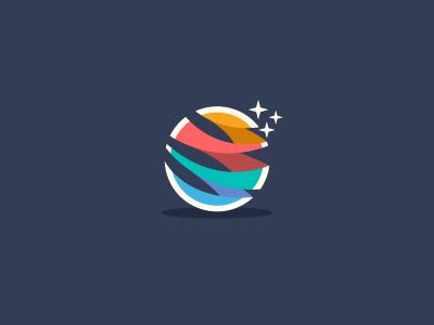 abstract globe logo design