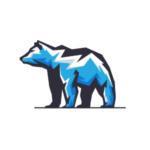 polar bear blue logo design