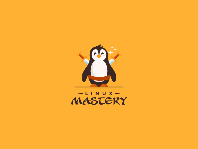 penguin logo design Linux Mastery