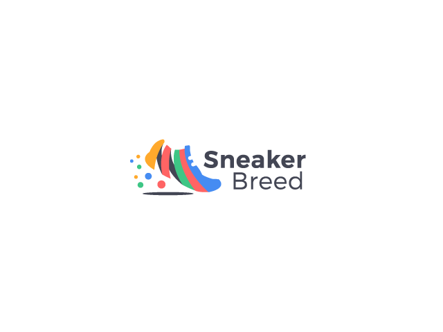 Sneaker Breed shoe colorful logo design