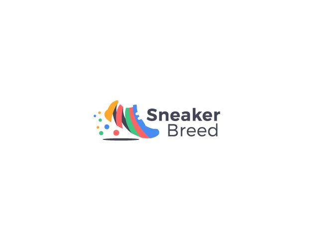 Sneaker Breed shoe colorful logo design