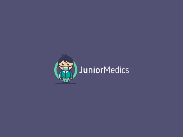 Junior Medics character logo mascot