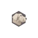 Dog head logo in polygon style