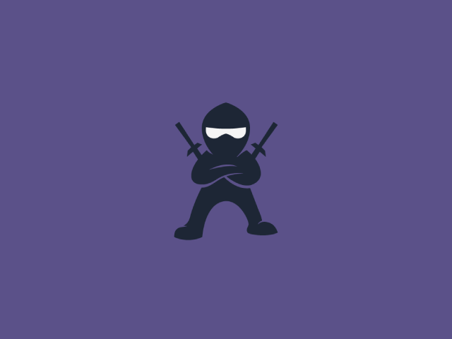 Ninja in black suit logo design