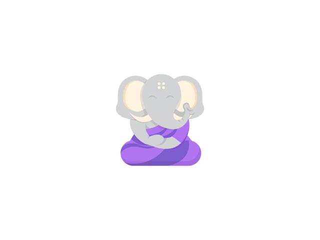Elephant Monk character logo design