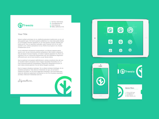 full branding for treesia