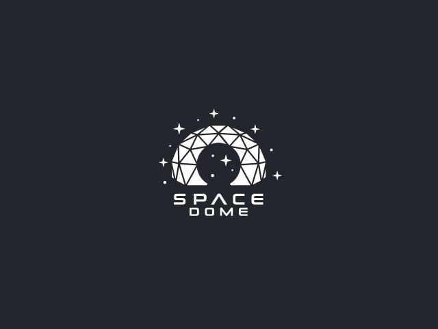 Space Dome technology logo design