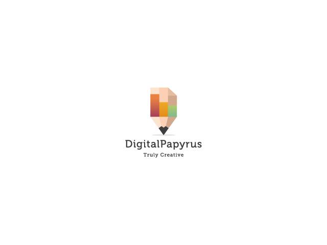 pixelater pencil logo design