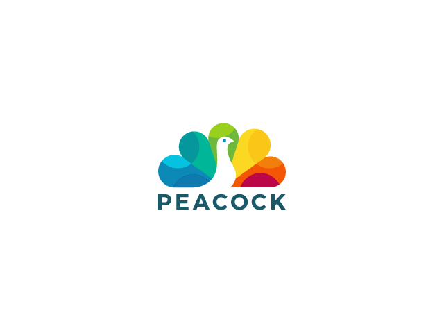 peacock colorful logo design