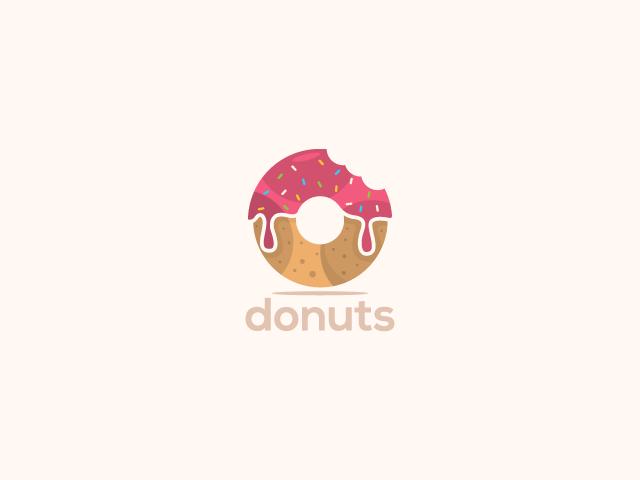 glazed donuts logo design