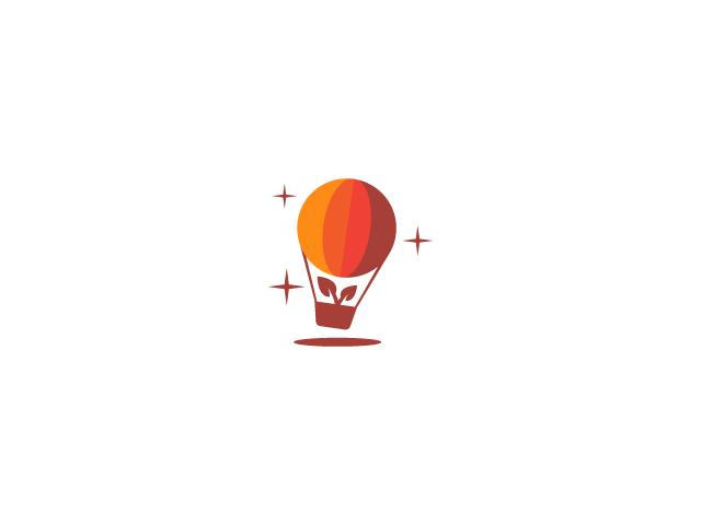 Health Hot Air Balloon logo design