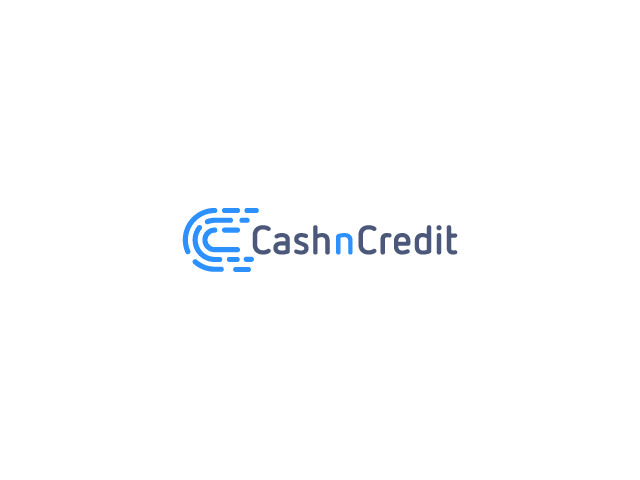 Abstract cash n credit logo