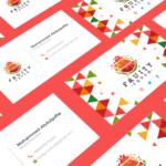 Fruity Crush business card design