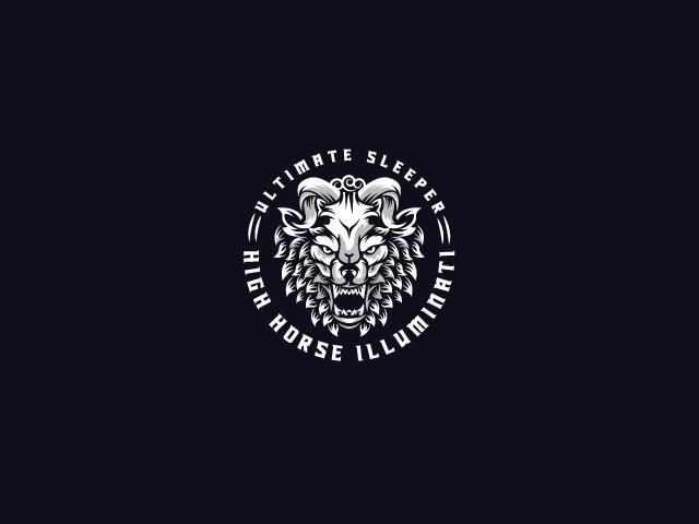 angry beast logo design
