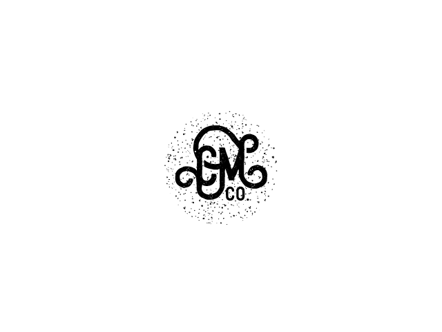 CM co typographic logo design