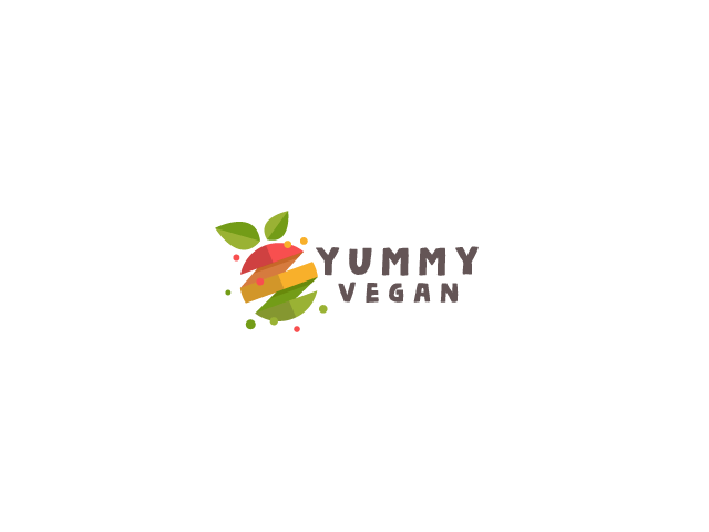 fruit logo design vegan