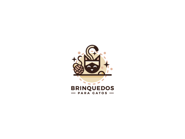 brinquesdos cat logo design