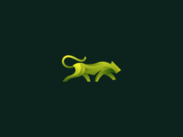 green panther logo design