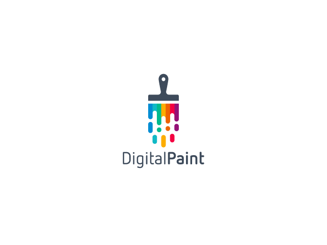 Digital Paint Logo Design brush