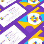 gozalo colorful business card and logo design