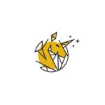 unicorn yellow horse poly logo