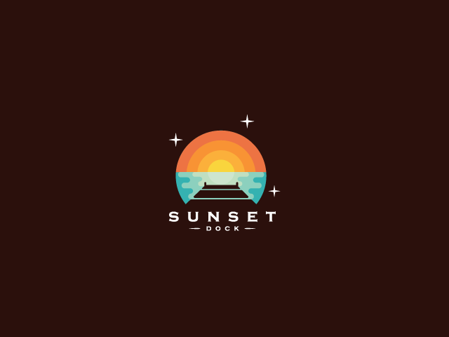 Sunset dock logo design
