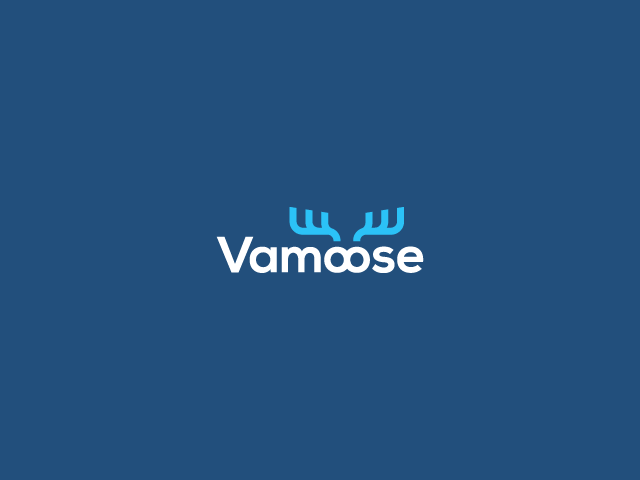 antlers vamoose logo design