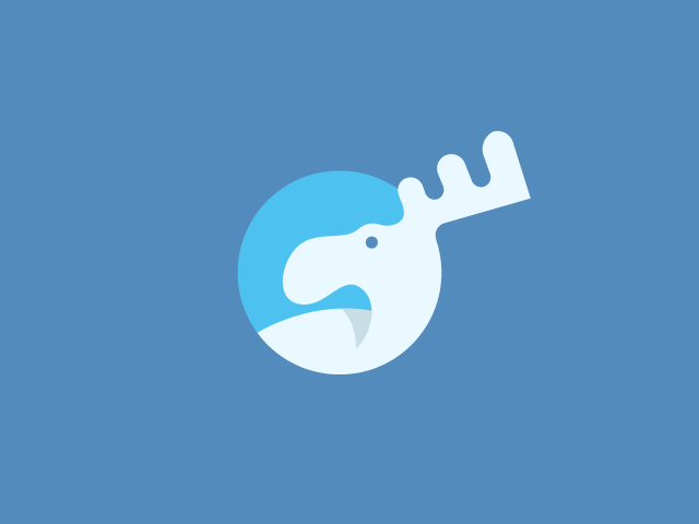 Flat moose minimalist logo design