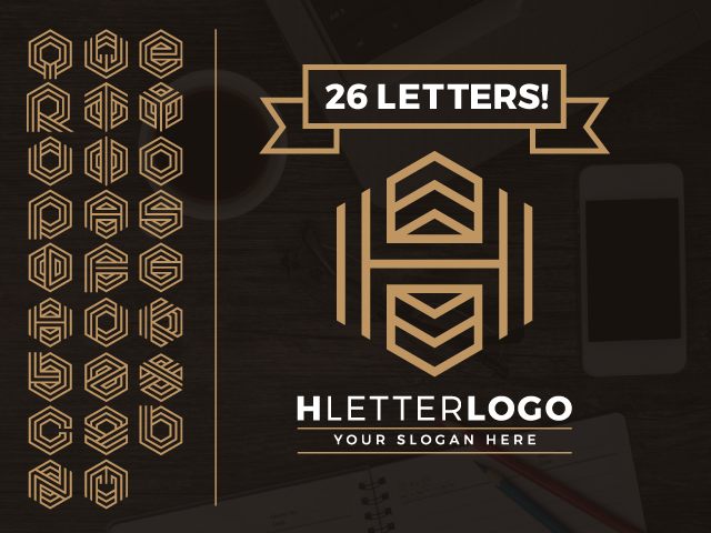 Hexagon Letter logo