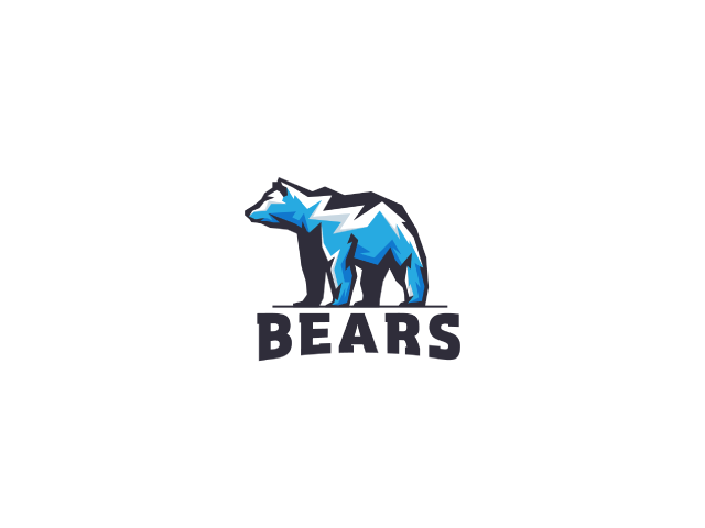 blue bear logo design