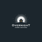 house on a hill moon logo design