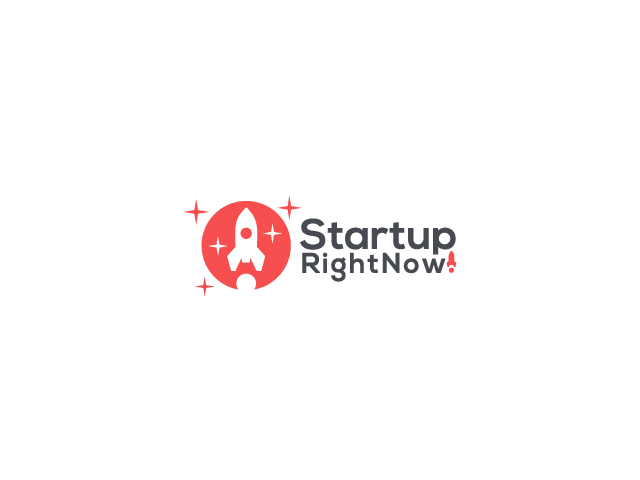 startup rocket logo design
