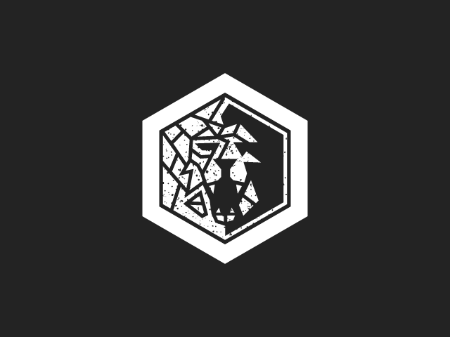 lion logo design in polygon