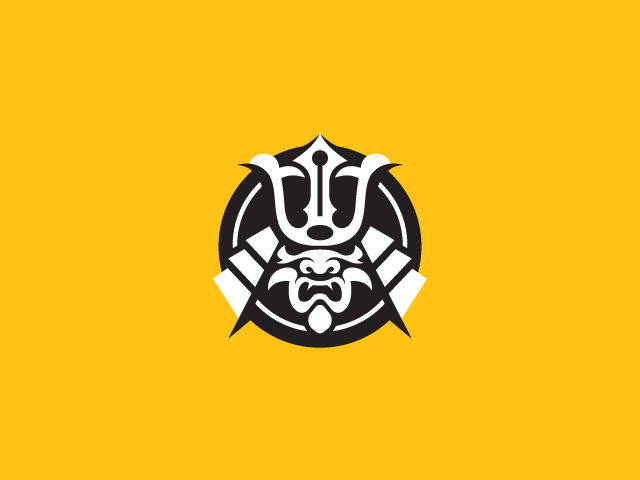 samurai helmet logo design