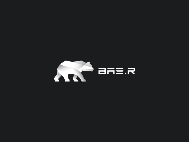 white bear logo design