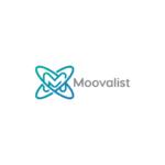 M letter logo design spheres moovalist