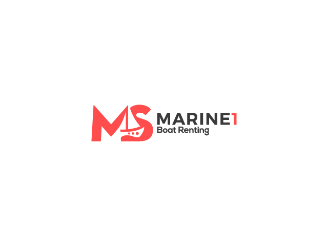 boat logo design marine boat renting