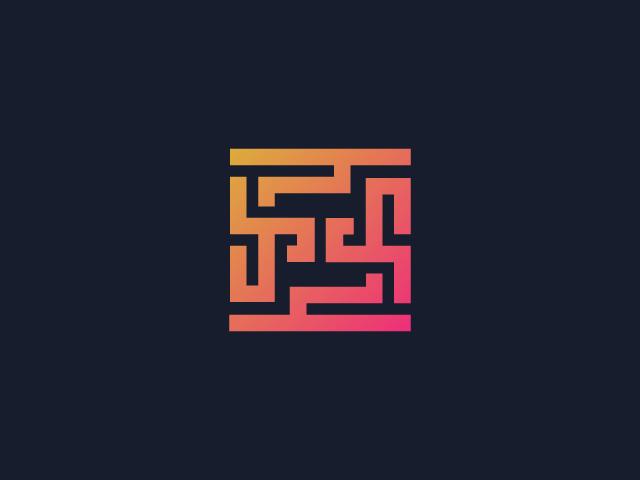 Maze logo design FF letters