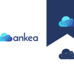blue hosting cloud logo design