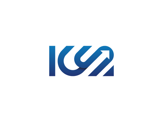 ICS typographic logo design