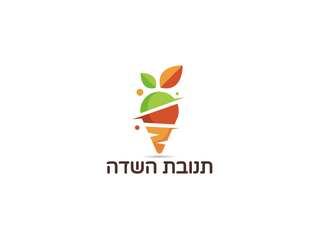 Food and vege delivery logo design carrot