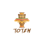 Totem pole logo bear