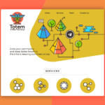 Totem logo and web design